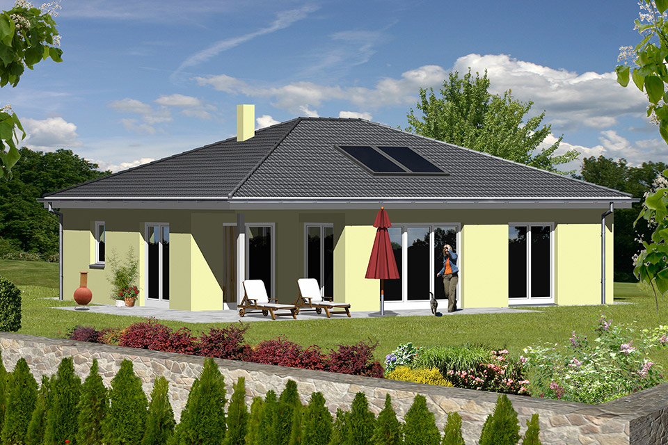 parma bungalow kmh k hnlein massivhaus gmbh. Black Bedroom Furniture Sets. Home Design Ideas