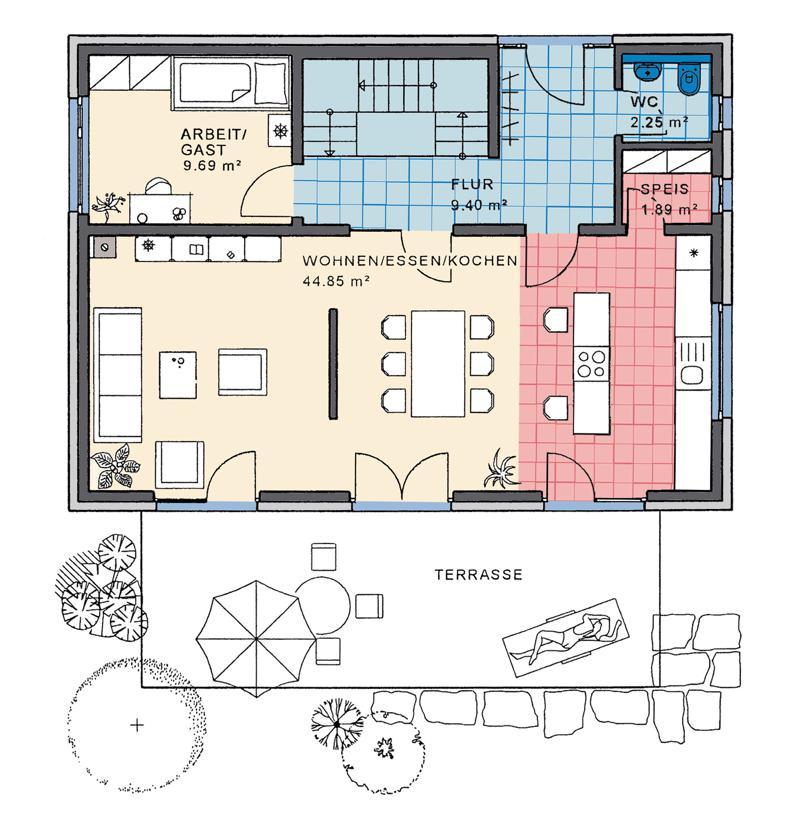 merano pultdach kmh k hnlein massivhaus gmbh. Black Bedroom Furniture Sets. Home Design Ideas